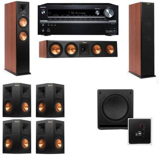 Klipsch RP-260F CH-SW-112-7.1-Onkyo TX-NR838 Tower Speakers