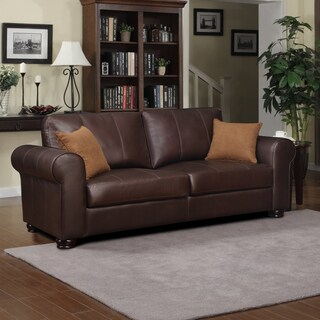 Better Living Olga Brown Renu Leather Sofa