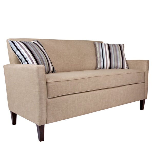 Better Living Gia Khaki Brown Twill Sofa