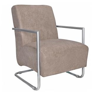 Portfolio Rippa Tan-Gray Velvet Chair