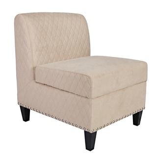 Better Living Wendall Khaki Microfiber Armless Storage Chair