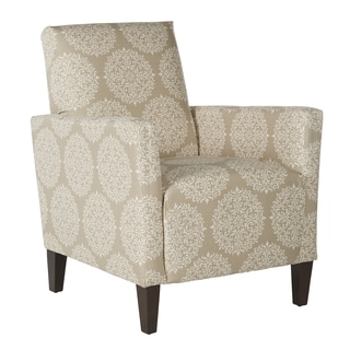 Better Living Gia Cream and Tan Scroll Arm Chair