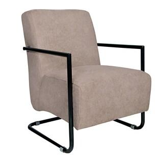 Portfolio Rippa Tan-Grey Velvet Arm Chair