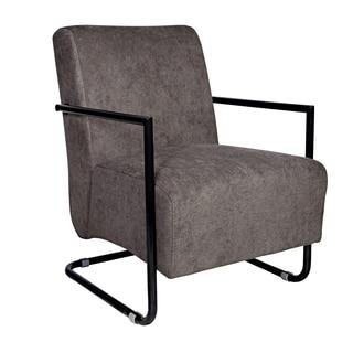 Portfolio Rippa Gray Velvet Arm Chair