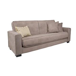 Better Living Gilda Tan-Grey Velvet Convert-a-Couch Sofa Sleeper