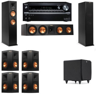 Klipsch RP-260F -SDS12-7.1-Onkyo TX-NR838 Tower Speakers