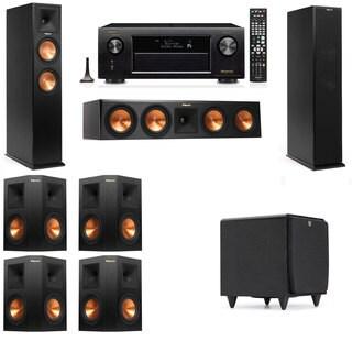 Klipsch RP-260F -SDS12-7.1-Denon AVR-X4100W Tower Speakers