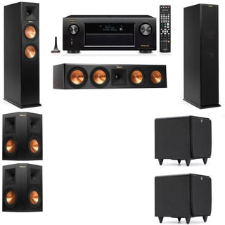 Klipsch RP-260F -SDS12-5.2-Denon AVR-X4100W Tower Speakers