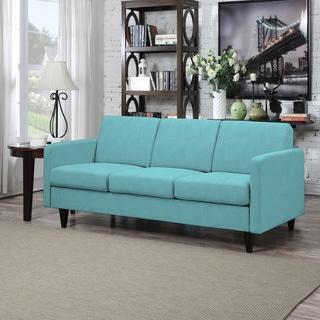 Portfolio Luca Turquoise Blue Linen SoFast Sofa