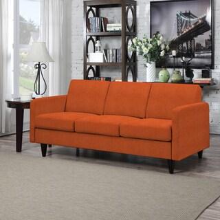 Portfolio Luca Orange Linen SoFast Sofa