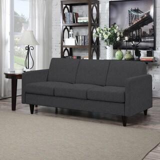 Portfolio Luca Midnight Black Linen SoFast Sofa