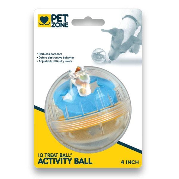 Pet Zone IQ Treat Ball 4-inch Dog Toy