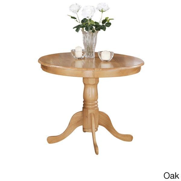 Round Pedestal Table Kitchen Living Room Wood 36 Oak