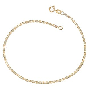 Fremada 10k Tricolor Gold Star Valentino Bracelet (7 inches)