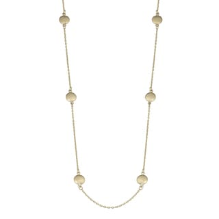 Fremada 10k Yellow Gold Stunning High Polish Bead Station Necklace (18 - 36 inches)