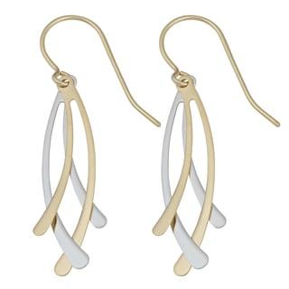 Fremada 10k Two-tone Gold High Polish Fancy Dangle Earrings