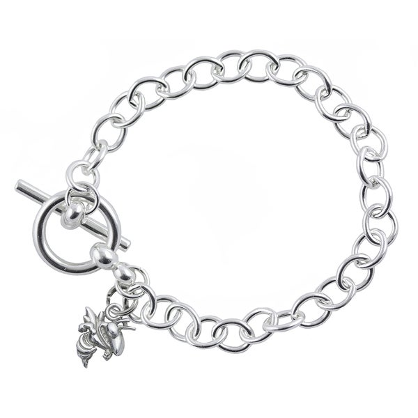 Georgia Tech Sterling Silver Link Bracelet