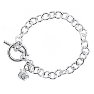 Louisville Sterling Silver Link Bracelet