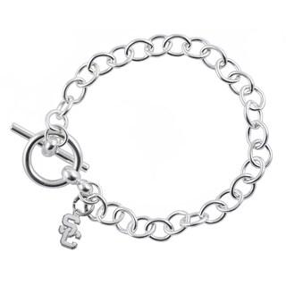 USC Sterling Silver Link Bracelet