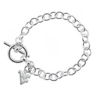 WVU Sterling Silver Link Bracelet