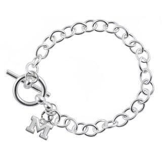 Michigan Sterling Silver Link Bracelet