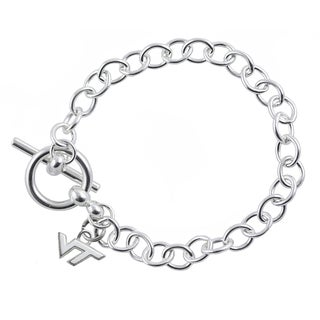 Virginia Tech Sterling Silver Link Bracelet