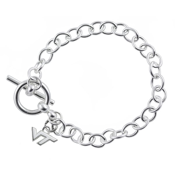 Virginia Tech Sterling Silver Link Bracelet