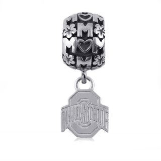 Ohio State Sterling Silver Mom Charm Bead