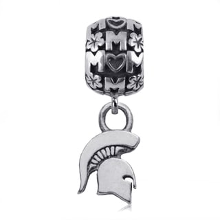 Michigan State Sterling Silver Mom Charm Bead