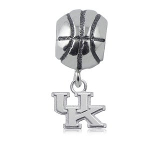 Kentucky Sterling Silver Basketball Charm Bead
