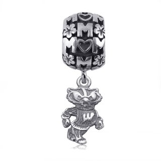 Wisconsin Sterling Silver Mom Charm Bead