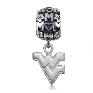 WVU Sterling Silver Mom Charm Bead