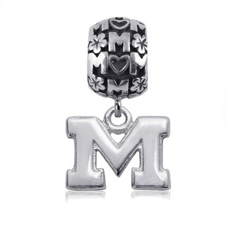 Michigan Sterling Silver Mom Charm Bead