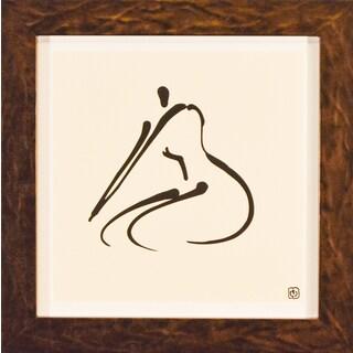 Wilson Abstract 'Female Nude VI' Framed Art Print