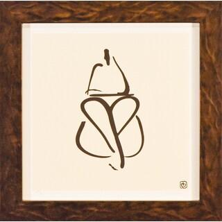 Wilson Abstract 'Female Nude III' Framed Art Print