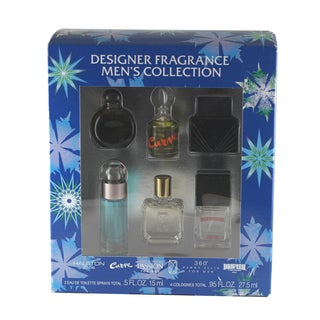 Designer Fragrance Collection Men's 6-piece Gift Set