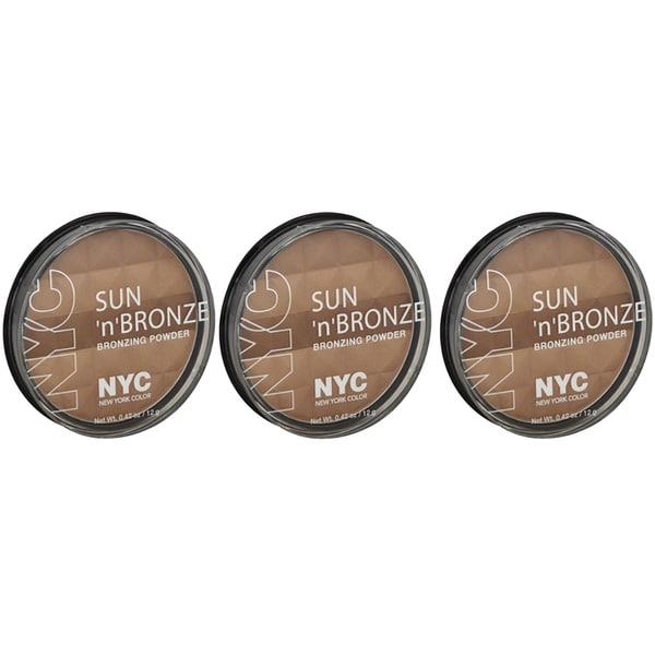 N.Y.C. New York Color Sun 2 Sun Fire Island Tan Bronzing Powder (Pack of 3)