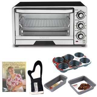 Cuisinart TOB-40 Custom Classic Toaster Oven Broiler with Kitchen Accessory Bundle (Refurbished)