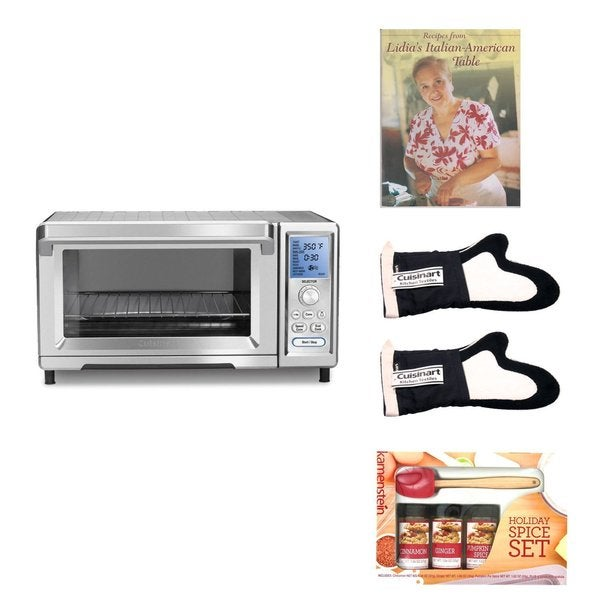 Cuisinart TOB260 Dual Cook Convection Toaster Oven with Kamenstein Mini Spatula Spice Set and Deluxe Accessory Kit