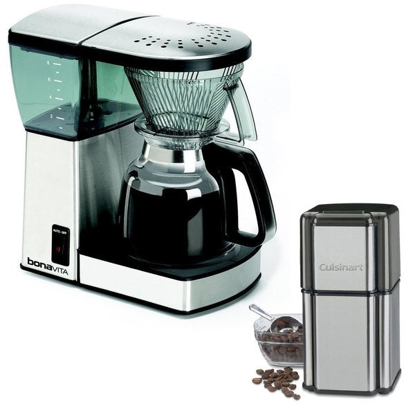 Bonavita BV1800 8-Cup Coffee Maker with Glass Carafe and Cuisinart Grind Central Coffee Grinder