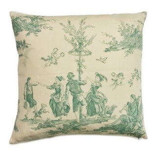 Antoinette Mint 18-inch Feather and Down Filled Throw Pillow