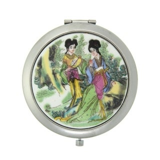 Handmade Porcelain Ladies Cosmetic Mirror (China)