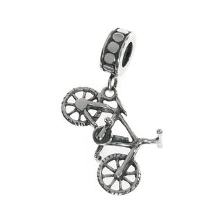Queenberry Sterling Silver Bicycle Dangle European Bead Charm