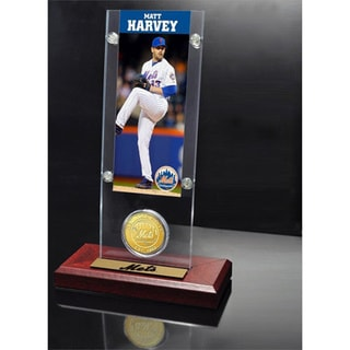 Matt Harvey Ticket and Bronze Coin Acrylic Desk Top