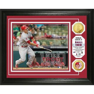 Mike Trout '100/100' Record Gold Coin Photo Mint