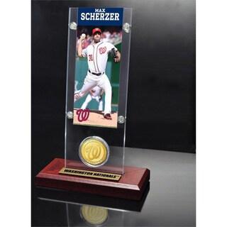 Max Scherzer Ticket and Bronze Coin Acrylic Desk Top