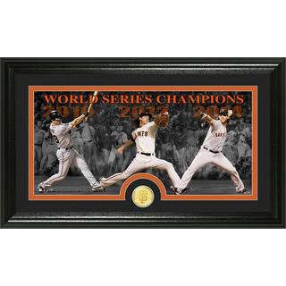 San Francisco Giants 3-time World Series Champions Bronze Coin Panoramic Photo Mint