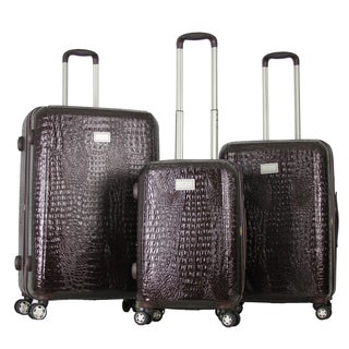 Gabbiano Crocs Polycarbonate 3-piece Coffee Expandable Hardside Spinner Set
