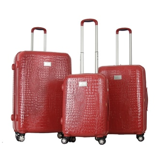 Gabbiano Crocs Polycarbonate 3-piece Red Expandable Hardside Spinner Set