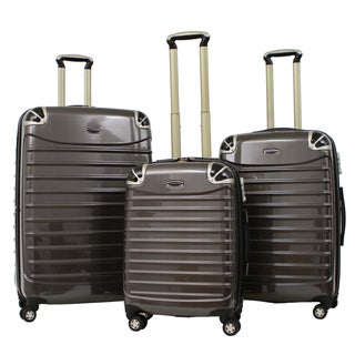 Gabbiano Vintage Polycarbonate 3-piece Champagne Expandable Hardside Spinner Set